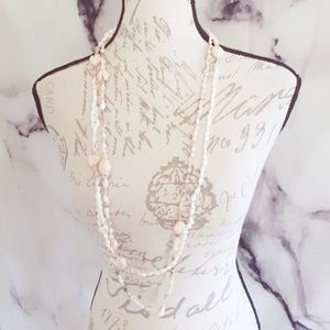 Seashell Vintage Tropical Necklace Handmade